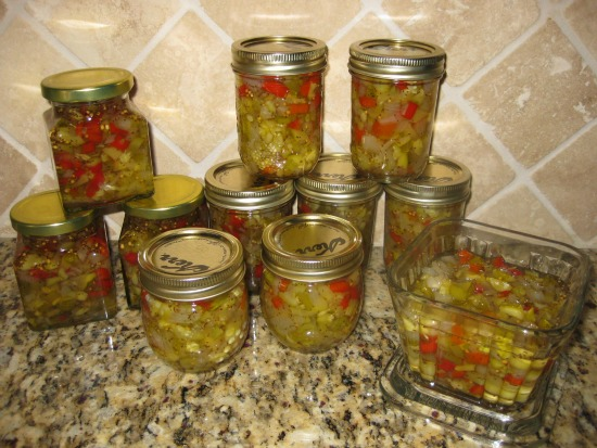 Making Zucchini Relish