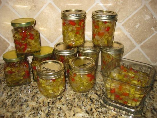 Making Zucchini Relish