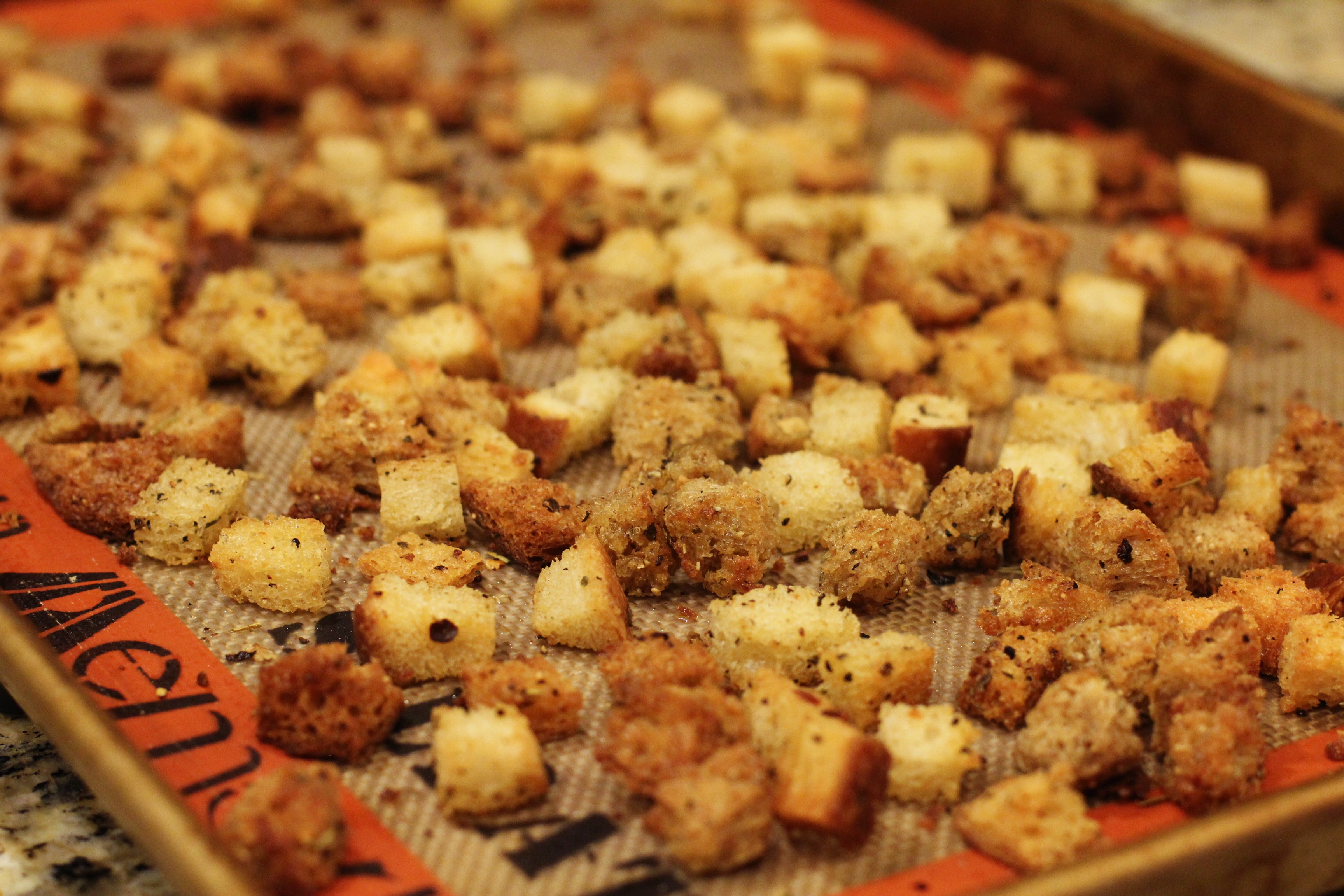 Recipe: How To Make Croutons | One Hundred Dollars a Month