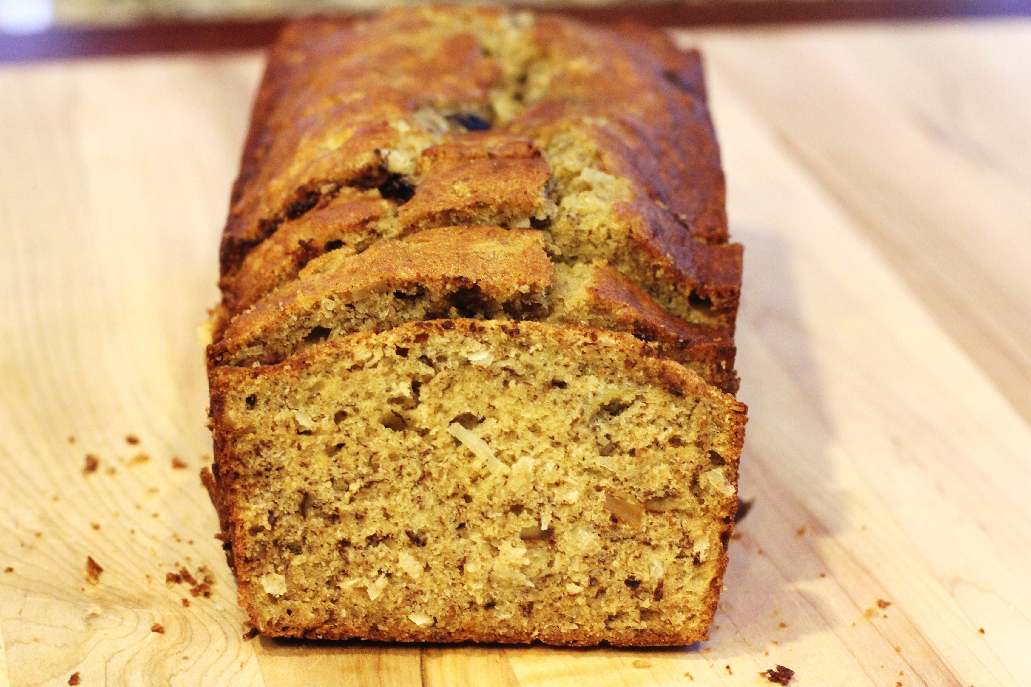 Recipe: Banana Bread with Walnuts, Coconut and Chocolate Chips