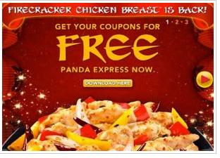 Panda Express: Free Firecracker Chicken TODAY ONLY!