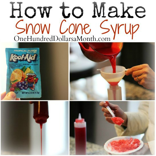how to make snow cone syrup