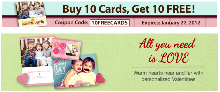 Mixbook: Buy 10 Cards, Get 10 Free!