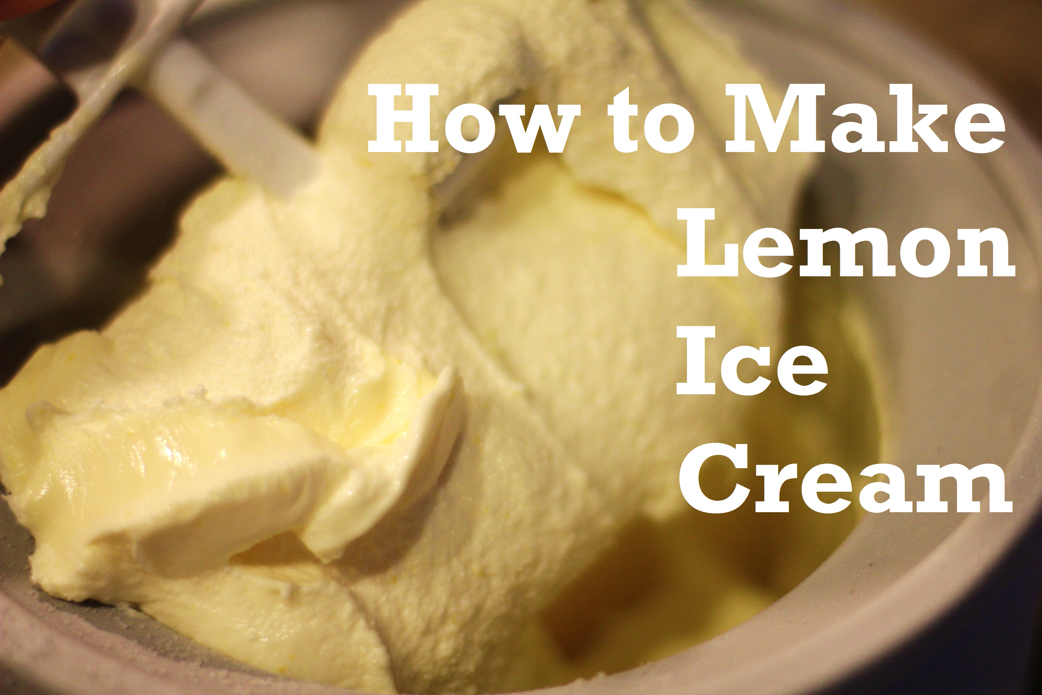 Recipe: How to Make Lemon Ice Cream