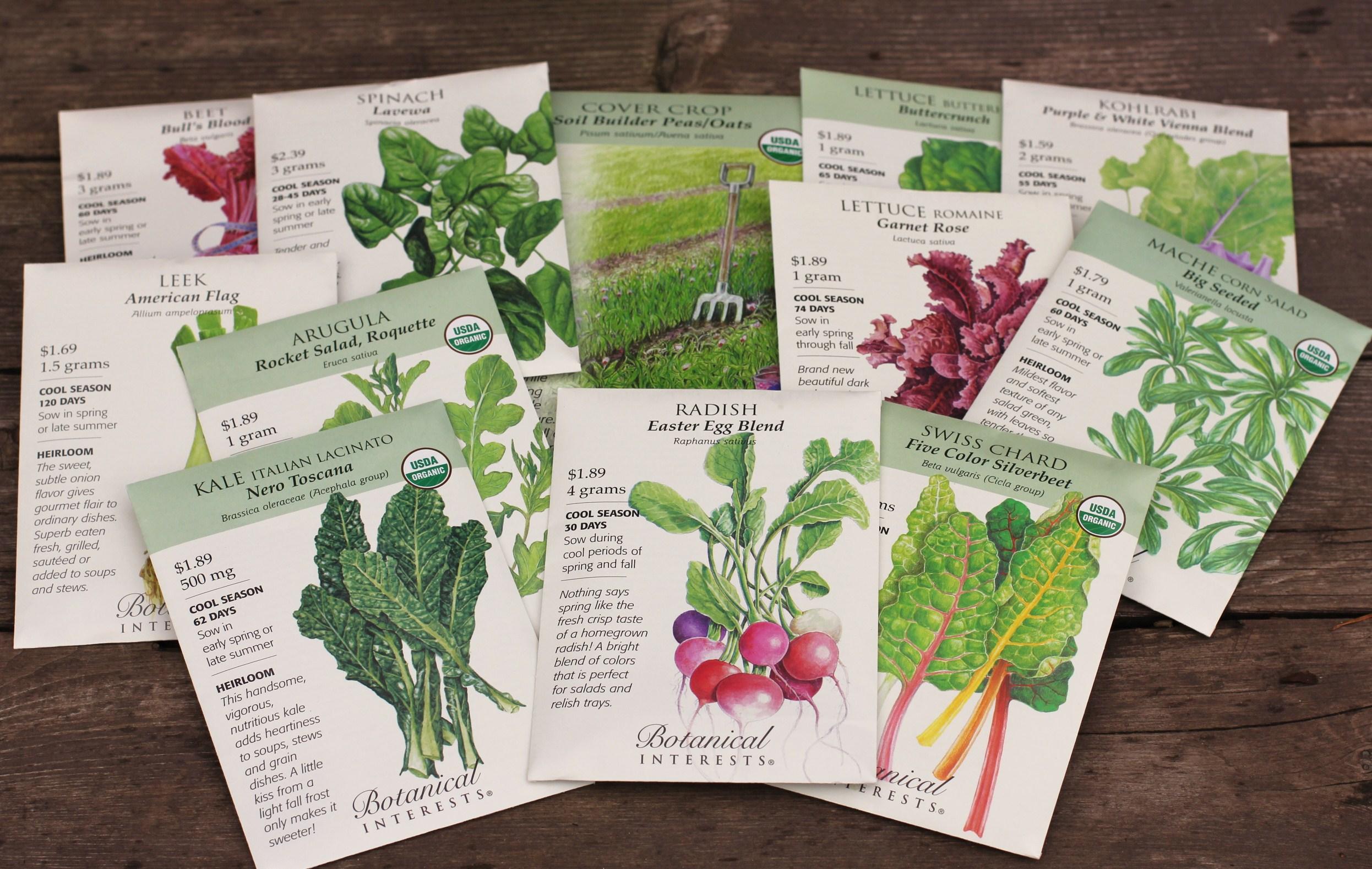 Botanical Interests Seed Giveaway!