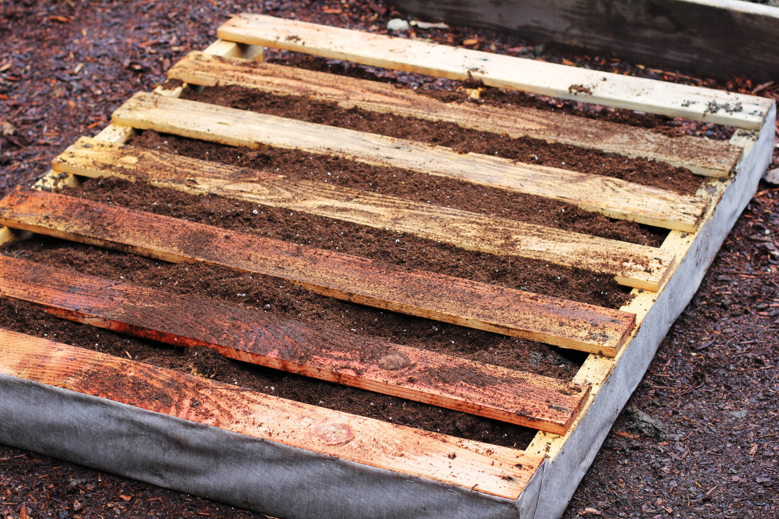 How to make a recycled pallet vertical garden for How to build a vertical pallet garden