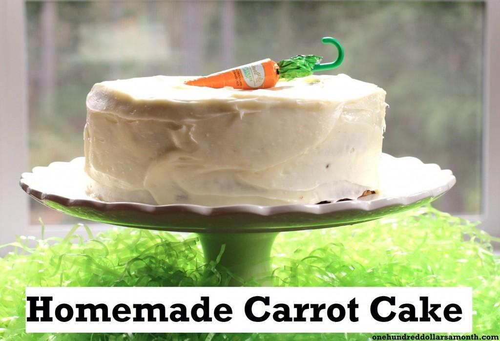 recipe homemade carrot cake easter