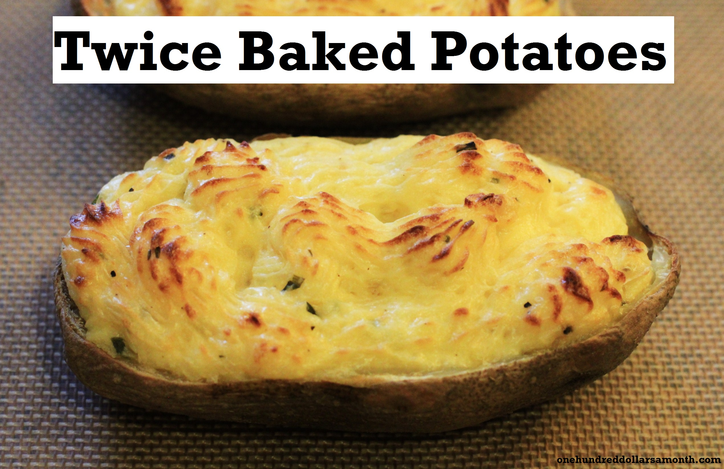 Recipe: Twice Baked Potatoes