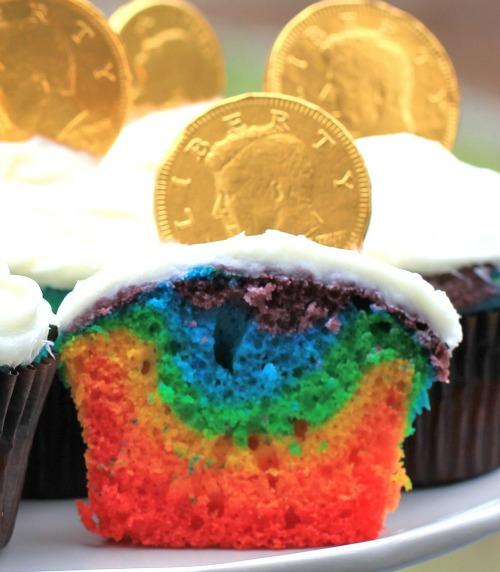 how to make rainbow cupcakes recipe