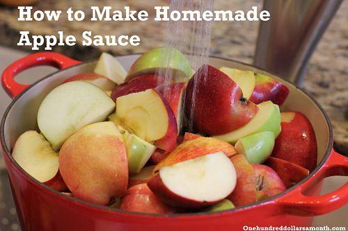 Recipe How to Make Homemade Applesauce