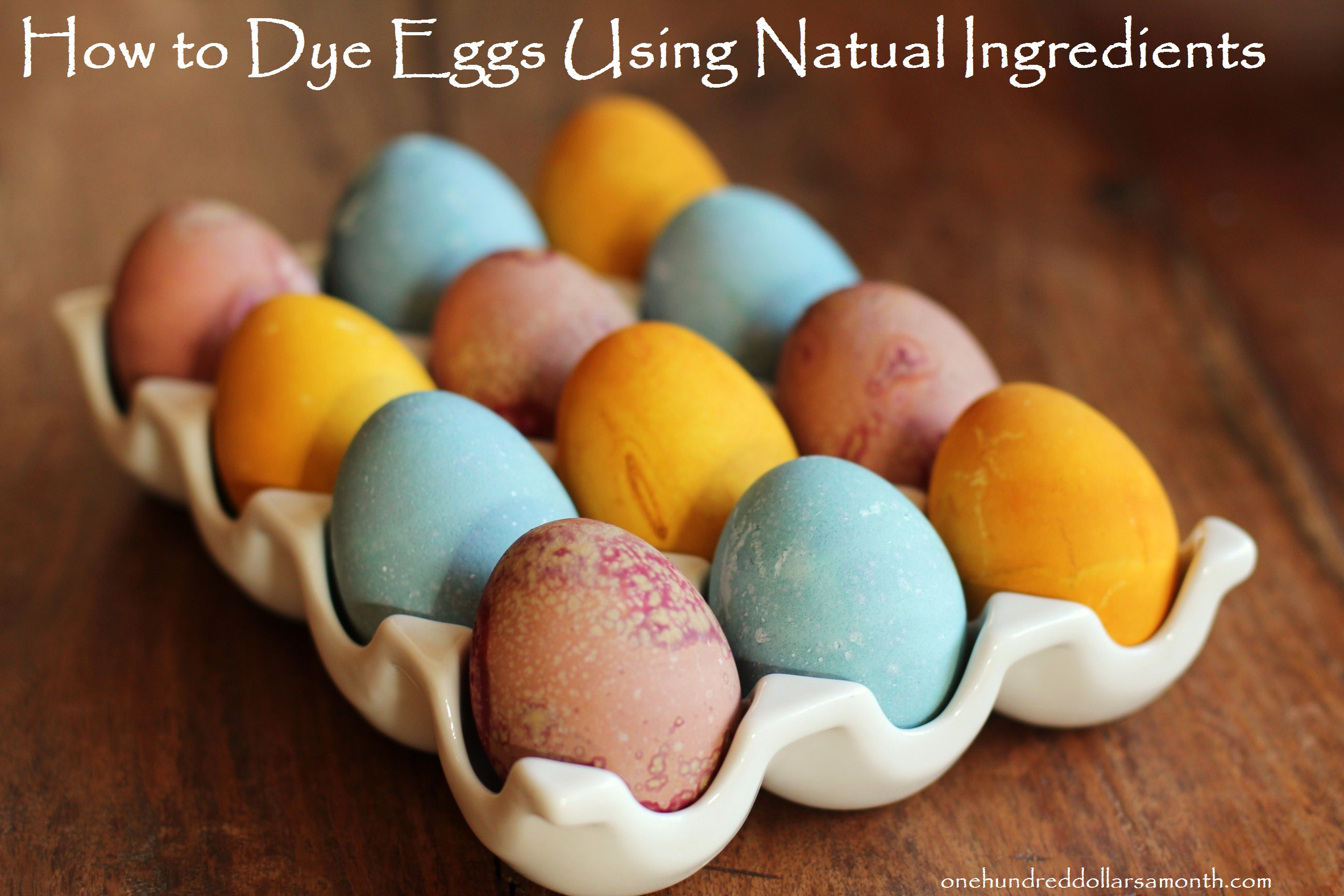 Easy Easter Craft: How to Dye Eggs With Natural Ingredients ~ No Dyes!