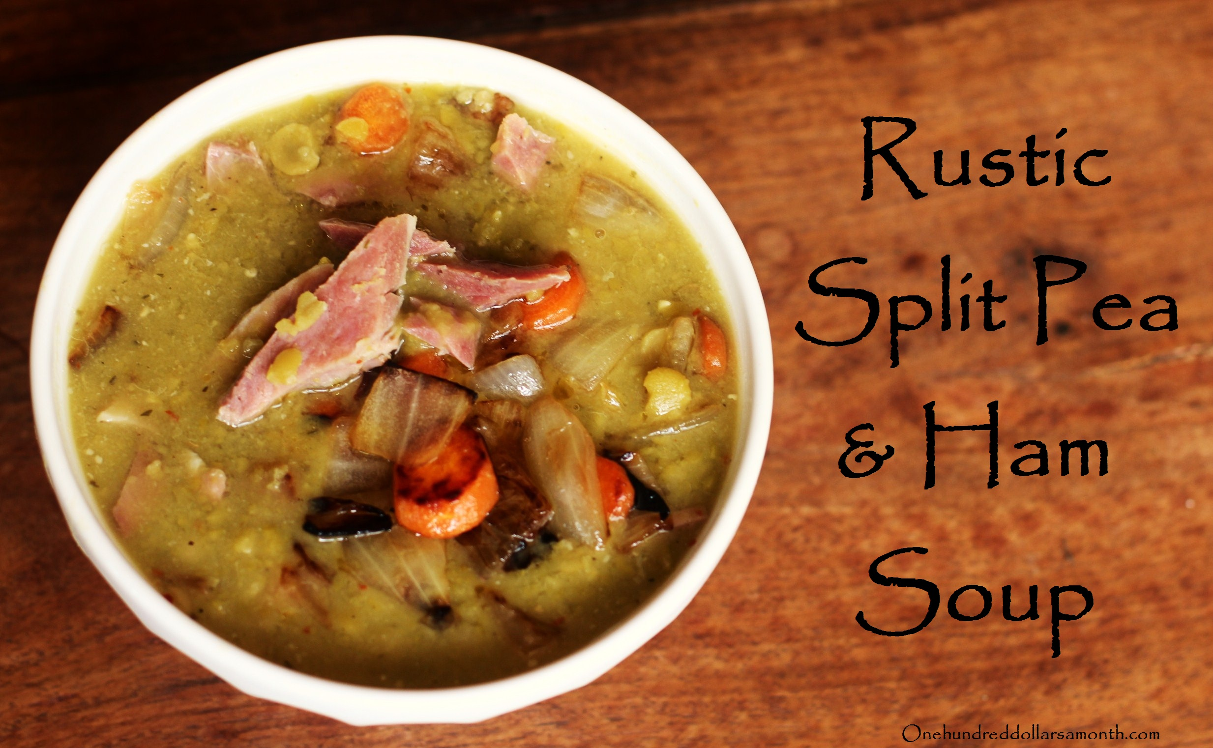 Recipe rustic split pea soup with ham