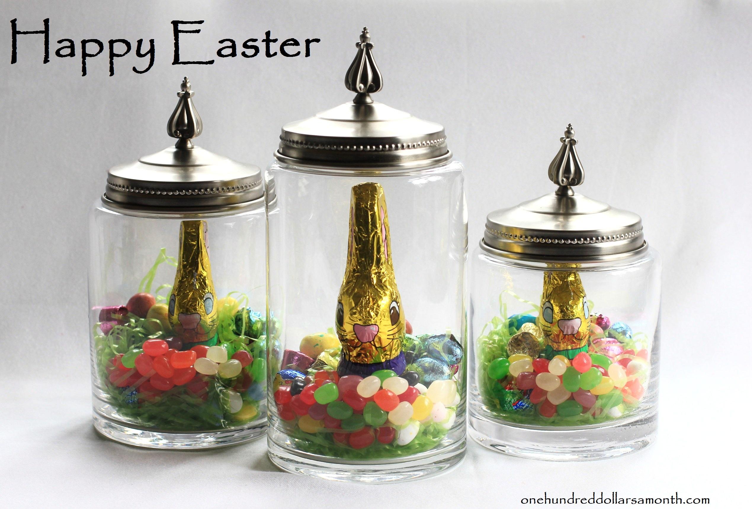 Last Minute Easter Idea: Treats in Glass Jars