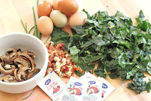 Recipe: Quiche with Kale, Bacon, Mushroom and Cheese