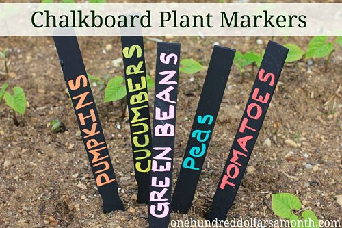 Easy Crafts For Kids – Chalkboard Plant Markers