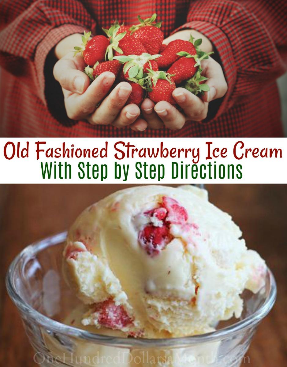 Recipe: Old Fashioned Strawberry Ice Cream