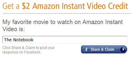 Amazon: FREE $2 Instant Video Credit