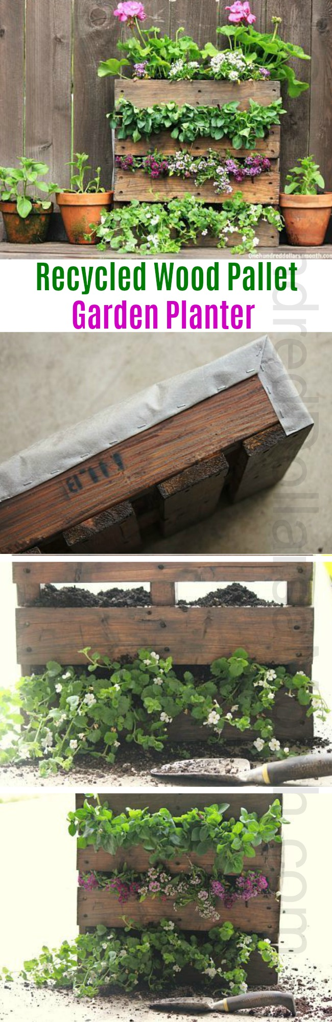 How to Plant a Flower Garden Using a Recycled Wood Pallet