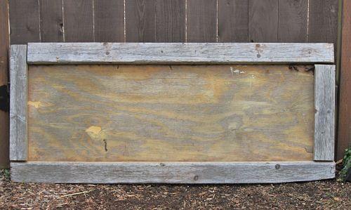 Trash to Treasure Tuesday: Wooden Garden Sign