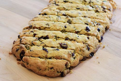 25 Days of Christmas Cookies – Cranberry Pistachio Cornmeal Biscotti