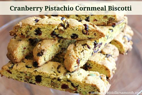 25 Days of Christmas Cookies - Cranberry Pistachio Cornmeal Biscotti