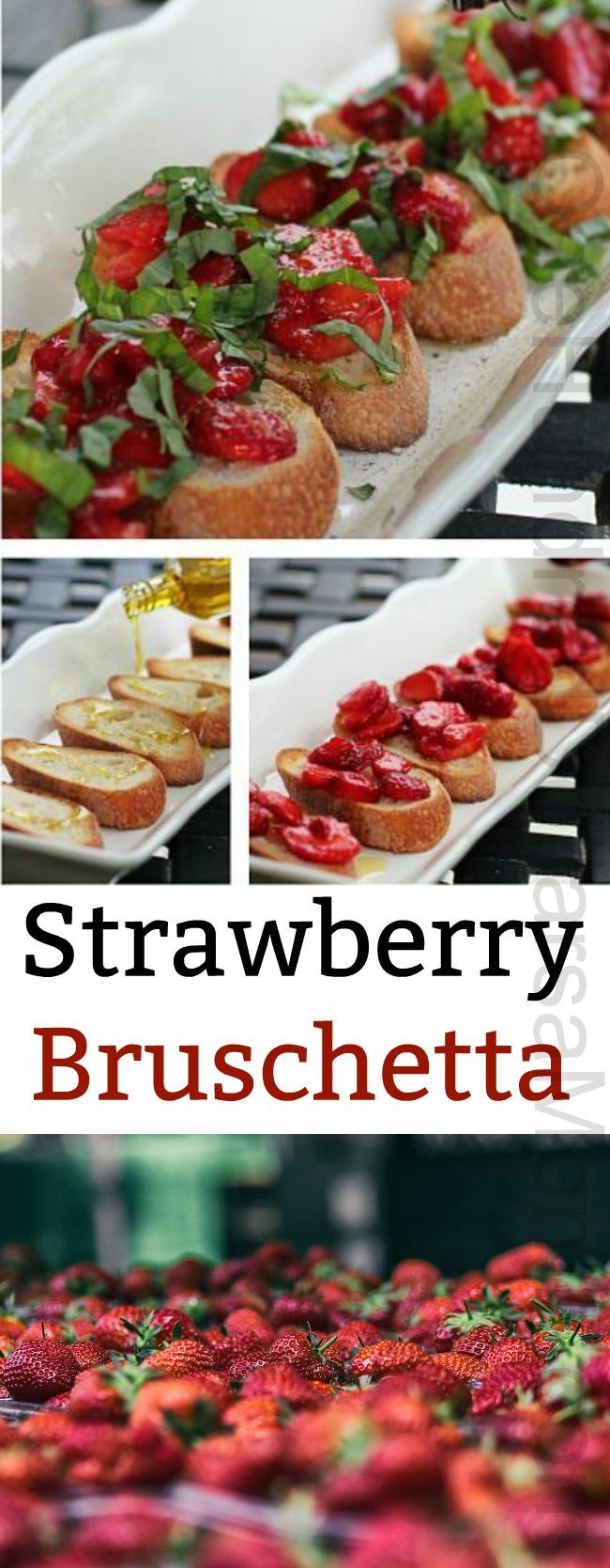 Recipe – Strawberry Bruschetta