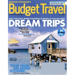 1 Year Subscription to Budget Travel Magazine Only $3.49!