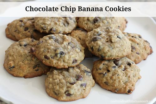 Yesterday, I whipped up a batch of chocolate chip banana cookies for ...
