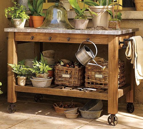 Potting Bench Work Space Inspiration One Hundred