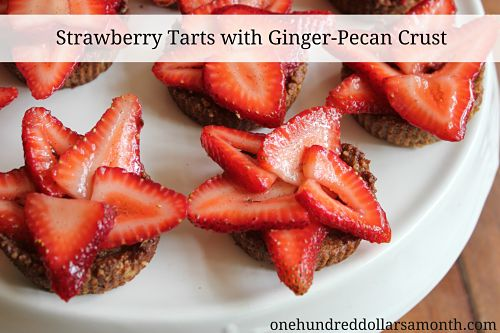 Strawberry Dessert Recipe – Strawberry Tarts with Ginger-Pecan Crust