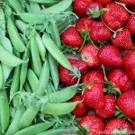 sugar snap peas and strawberries