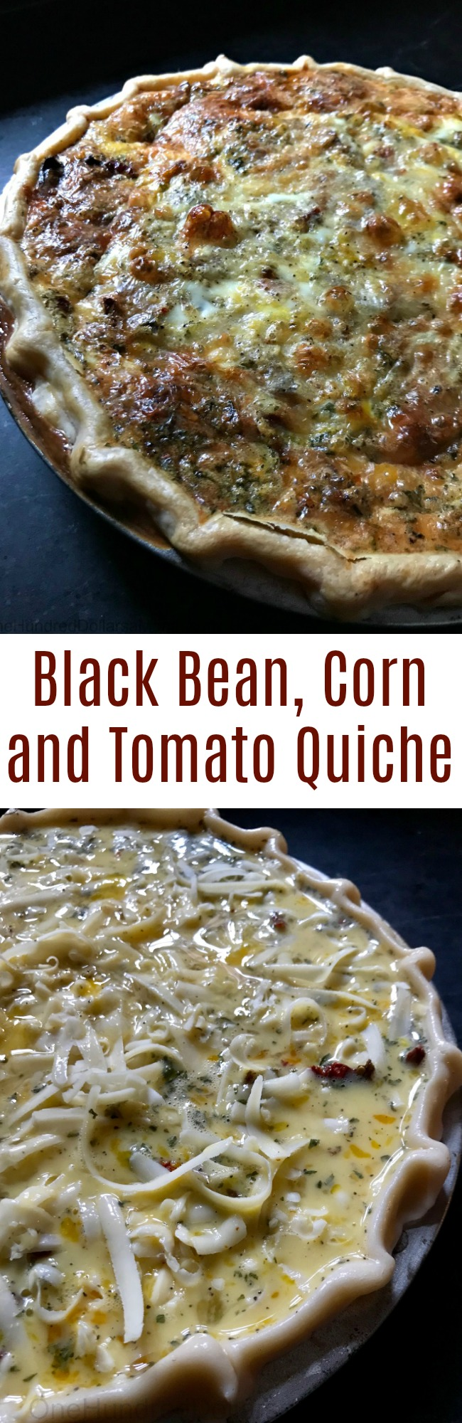 Easy Quiche Recipes – Black Bean, Corn and Tomato Quiche