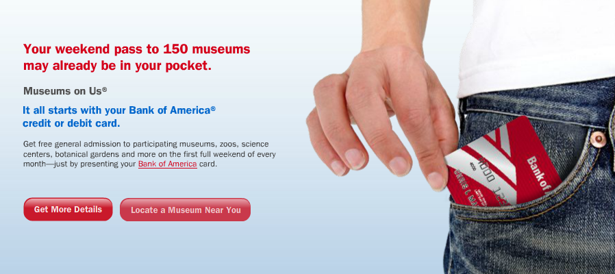Freebie Alert – FREE Museum Admission for Bank of America Customers