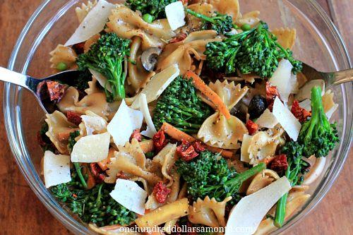Broccoli carrot pasta recipe