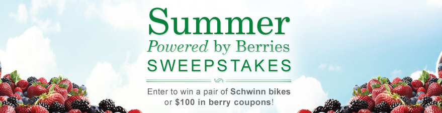 Driscoll's Berries Sweepstakes – Win a Pair of Bikes or $100 in Free Berries!