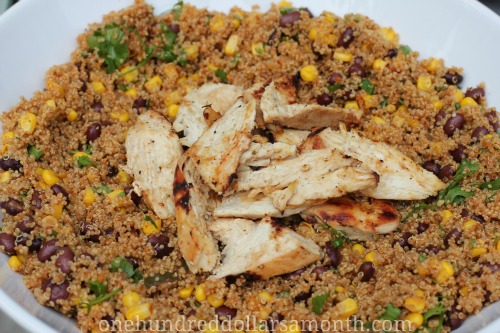 Easy Quinoa Recipes – Chicken Quinoa Taco Salad