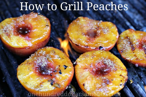 Easy Summer Recipes - Grilled Peaches