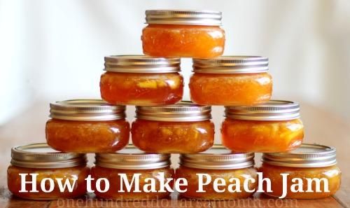 how to make peach jam recipe