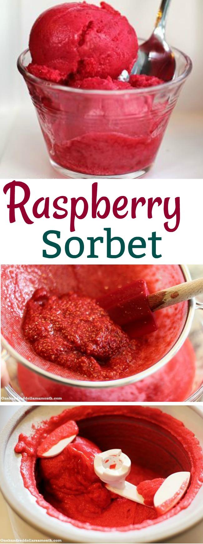 Recipe – How to Make Raspberry Sorbet
