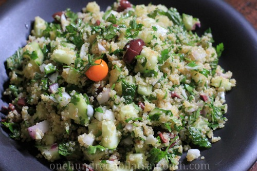 Easy Summer Recipes – Quinoa Salad with Cucumbers and Mint