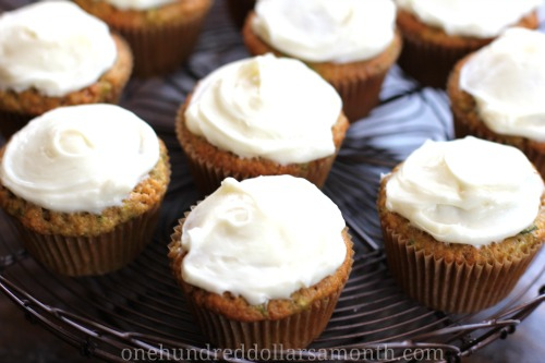 Recipe - Zucchini Cupcakes with Cream Cheese Frosting