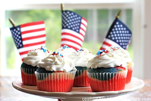 4th of July Dessert Recipes – How to Make Red, White and Blue Cupcakes