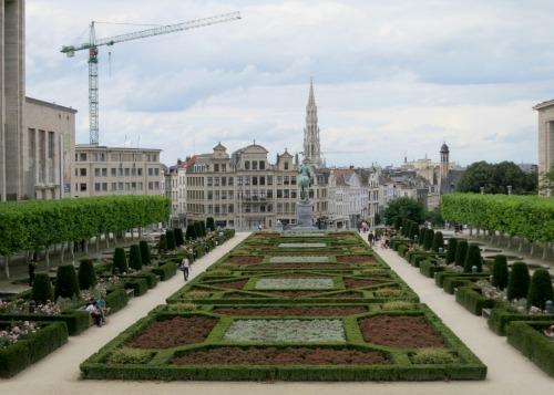 Mont des Arts Kunstberg Brussels, Belgium – Garden Tour