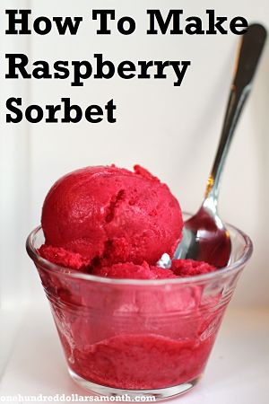 how to make raspberry sorbet