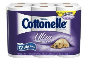 Amazon – Cottonelle Toilet Paper $6 for 12 Big Rolls