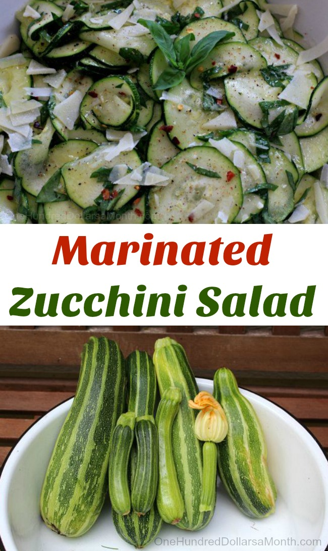Easy Zucchini Recipes – Marinated Zucchini Salad