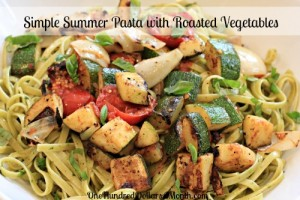 Simple Summer Pasta with Roasted Vegetables