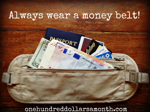always wear a money belt rick steves