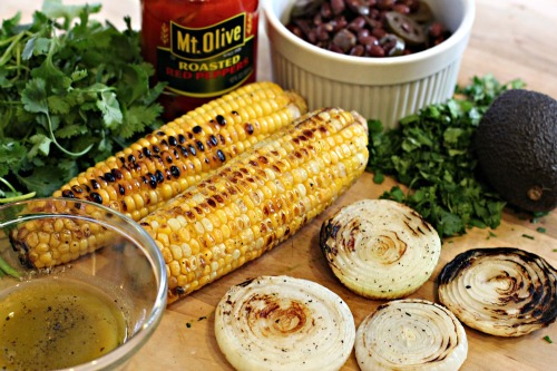Easy Summer Salads – Grilled Corn, Roasted Pepper, and Black Bean Salad