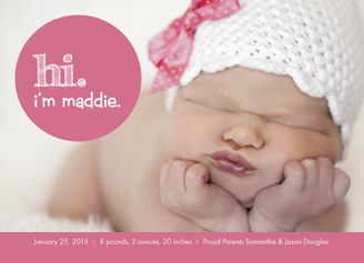 Cardstore – 3 FREE Birth Announcements!